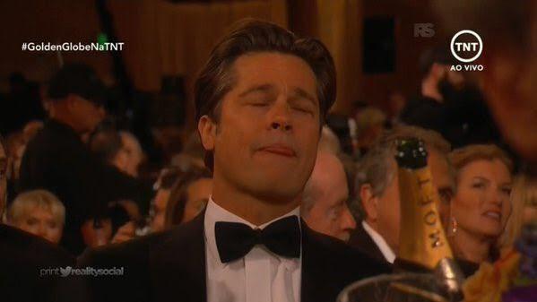 Brad Pitt solo podía pensar en el Moet.