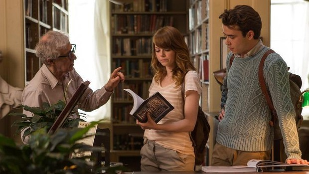 Woody Allen da instrucciones a Emma Stone y Jamie Blackley