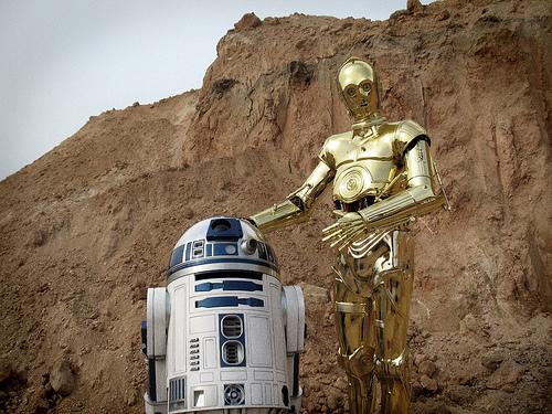 R2D2 y C3PO Robots