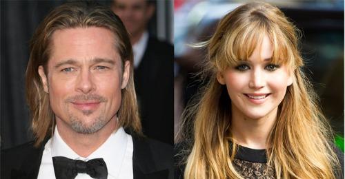 Brad Pitt y Jennifer Lawrence.