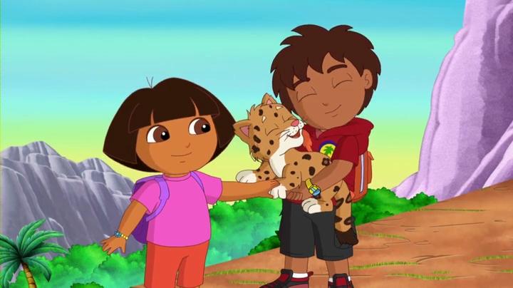 Dora, la exploradora y su primo Diego.